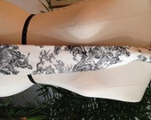 Black and White Skeleton Print Necktie