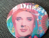 boy george 90s pin button badge brooch Culture Club 1990s gay boho 1980s eighties