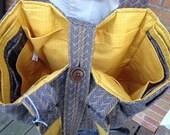 "Vintage Upcycled Tote Bag Repurposed Recycled Reclaimed ""Buster Bronco"" OOAK!"