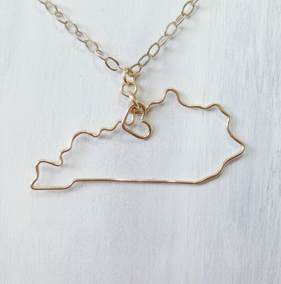 kentucky necklace custom state necklace ky state by