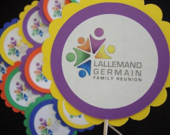 Family reunion cupcake toppers or tags