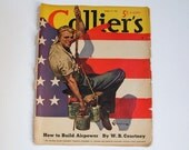 Magazine Cover, Collier's 1940, Reverse, Four Roses Ad