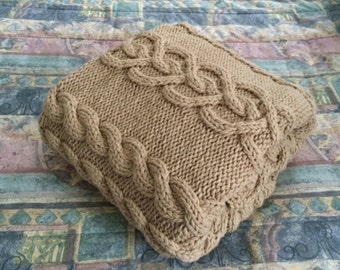 SUMMER SALE: xoxo Chunky Hand Knit Triple-strand Blanket, Lace 47x62.