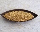 MIYUKI Japanese Seed Beads, 15/0 Round Galvanized Gold, 10g