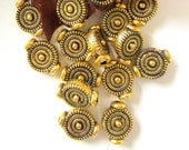 28 Spacer beads antique gold metal spacer beads jewelry supply 10mm x 7mm lead free nickel free cadmium free 0305Y-X4