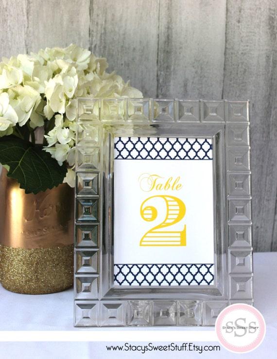 Wedding Reception Table Numbers Custom DIY Printable By Stacys Sweet Stuff