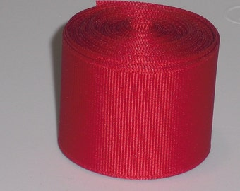 Solid Red 1.5 inch Grosgrain Ribbon 10 yards