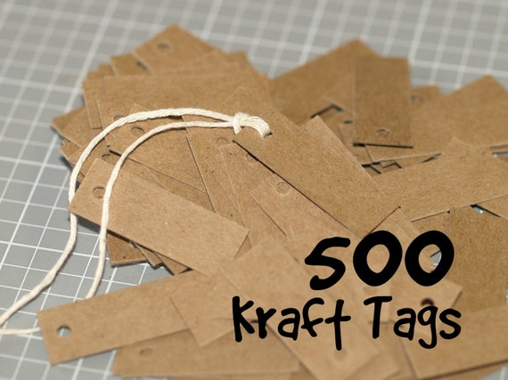 500 mini kraft tags chipboard tags small tags price tags for Price tags for craft shows