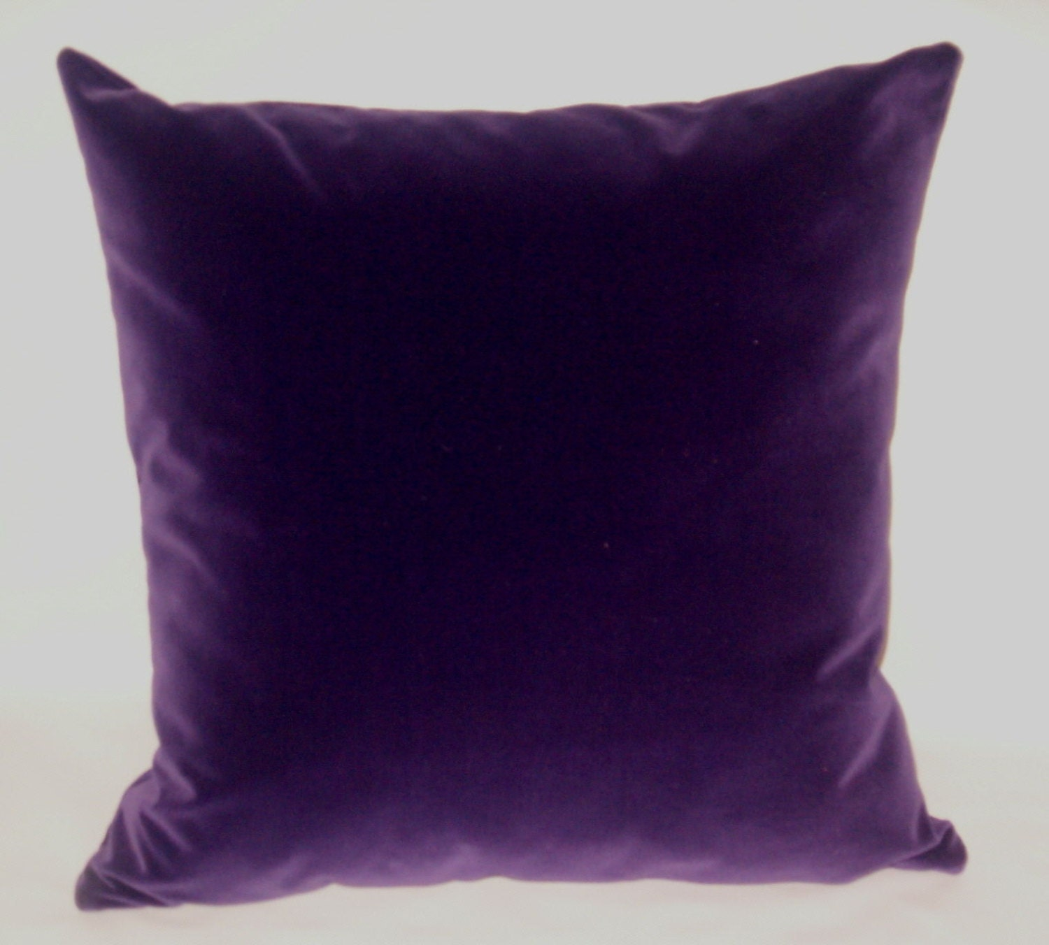Purple Velvet Decorative Pillows : Ready to ship Luxurious velvet pillow 20 inches by KirtamDesigns
