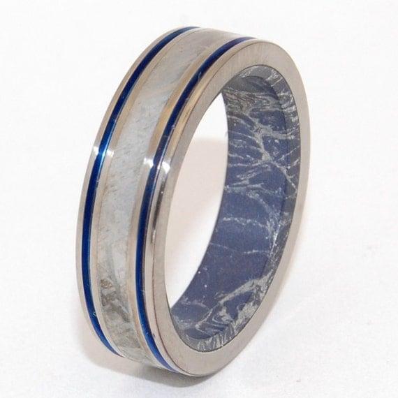 Titanium Wedding Rings Meteorite Ring