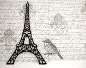 Eiffel Tower Die Cut Black Cardstock Eiffel Tower Die Cut