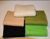 Merino Wool prefelts: 5 colours for Wet Felting or Needle Felting , Canadian Forest