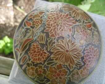 Cloisonne Brass Jar