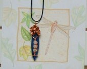 Kyanite / Moonstone / Copper  / Wire Wrapped Pendant / Necklace / Metaphysical / Chakras / Handmade / Wiccan / Pagan