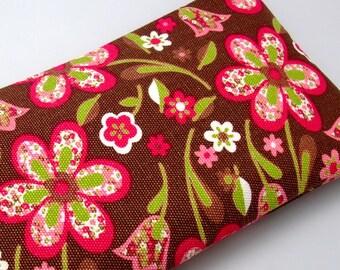 RS Large Zipper Pouch, Pencil Pouch, Gadget Bag, Cosmetic Bag, Beautiful flowers (ZL-15)