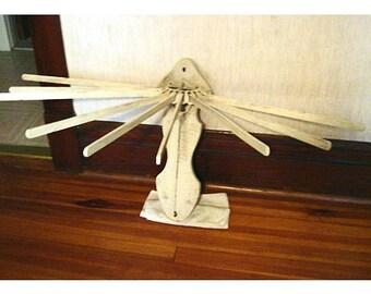 Vintage Wooden/Metal Towel Rack/ Wall Hanging/Home Decor**