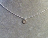Little Heart Stamped Sterling Silver Necklaces -- choose from 3 pendant sizes