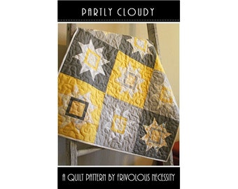 Quilt Pattern PDF Partly Cloudy -- Baby Lap -- Fat Eighth Friendly