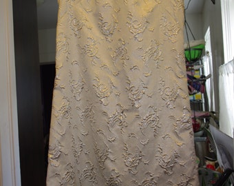 Vintage Silver Brocade Sheath Dress PRICE REDUCED