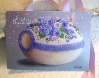 Easter Greetings Sugar Egg Print