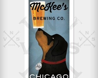 ROTTWEILER  Custom PERSONALIZED Brewing Company  ILLUSTRATION Giclee Print  signed
