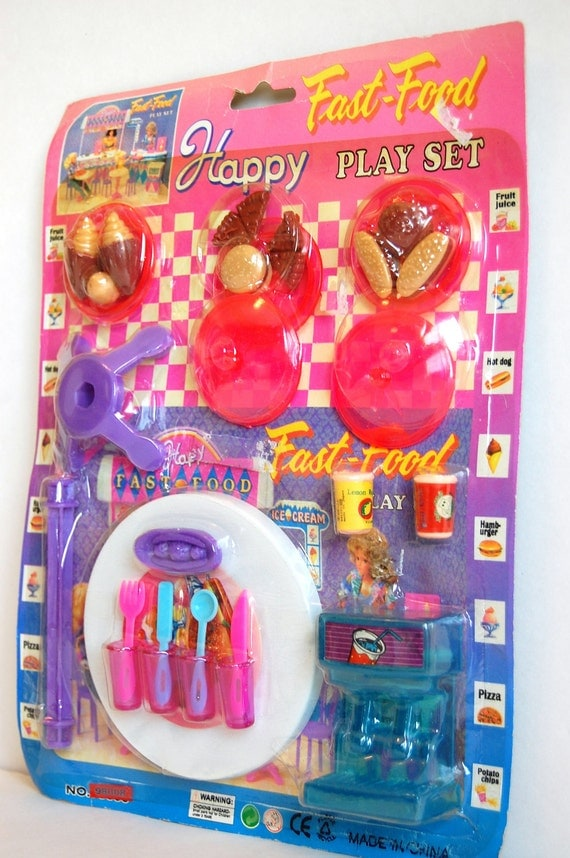 Fast Food Toys : Vintage plastic food cafe toys s fast by