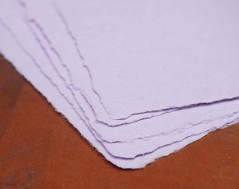 Handmade Recycled Paper - Lavender