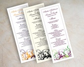 Wedding menu card, printable wedding menu, diy wedding menu, wedding reception menus, tower menu, tea length menu, long menu, simple, Lania