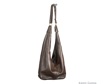 Big Leather Shoulder Bag, Crossbody,Slouch, Hobo Sac -THE RITA