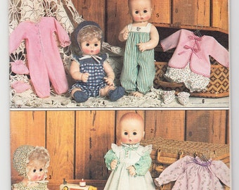 Classic 1985 Simplicity 5615 UNCUT Craft Sewing Pattern Wardrobe For Baby Dolls