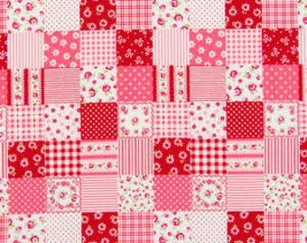 Romantic Memories  Cotton Fabric Cosmo Quilt Gate AP8787-14E Red Patchwork