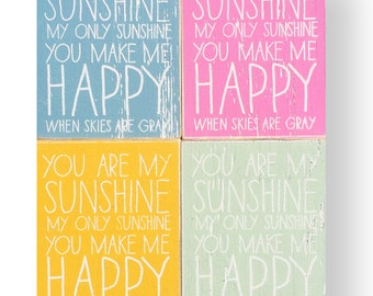"You Are My Sunshine ""Fun Size"" Kid Text 8x10"