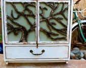 Tree Art - Wall Cabinet - Hanging - Bath - Kitchen - Home Decor - 26 Tall x 25 Wide x 8 Deep - Towel Bar