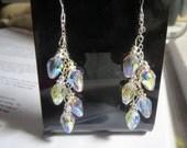 Bride ~ Wedding ~ Prom ~ Holiday Swarovski Crystal Clear Aurora Borealis Earrings