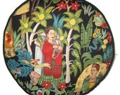 Frida Kahlo Garden Pouffe Foot Rest Floor Cushion Pouff