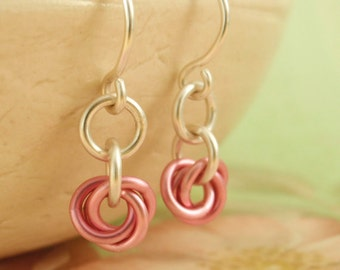 SALE - Little Cuties Earrings  Kit in Your Choice of Colors - The Sweeter Side of Chainmaille