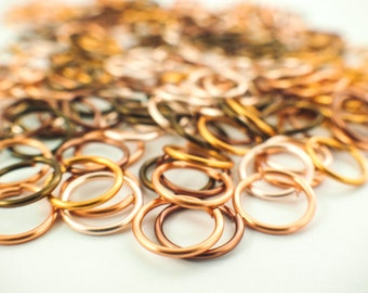 100 Cobblestone Colored Jump Ring Sample Package - You Pick Gauge and Diameter - 16, 18, 20, 22, and 24 gauge - 100% Guarantee!