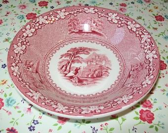 SALE - Jenny Lind bowl, pink, Royal Staffordshire, vintage