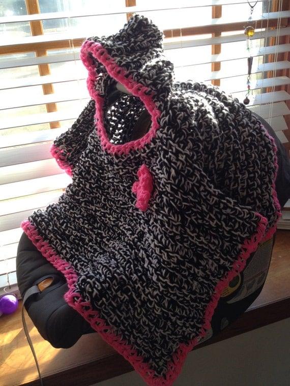 Hooded Car Seat Blanket Baby Infant Hood Poncho Newborn