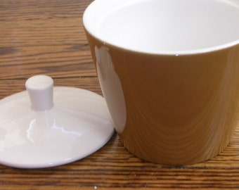 Mikasa Sugar Bowl with Lid Brown and White ON SALE