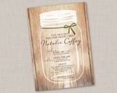 Rustic Jar Wedding Shower Invitation
