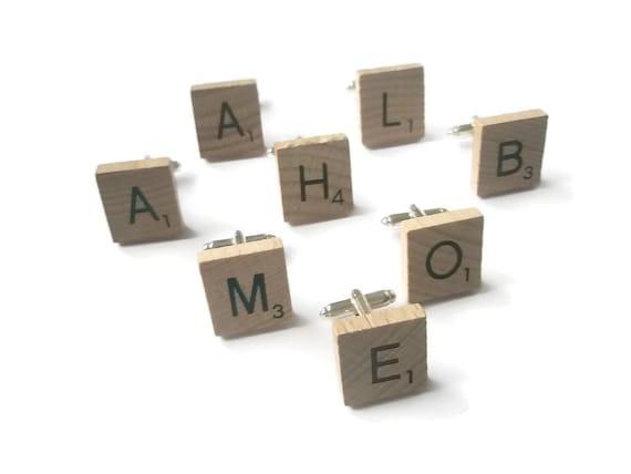 NEW Custom Order Scrabble Tile Cufflinks Silver Or Gold