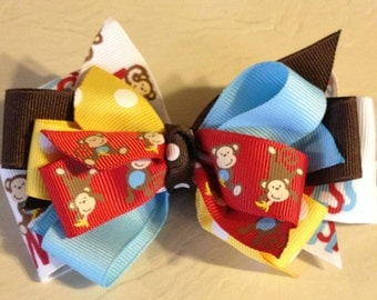 Silly Monkey Business Hair Bow