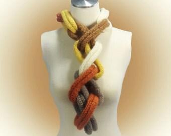 Hand Knit Women Scarf by KnitWear-Designs