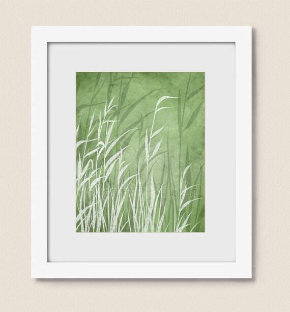 Items similar to tall green grass nature wall art print for Tall grass decor