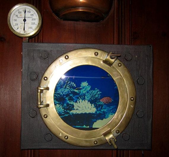 Window on the Deep Submarine Porthole by WillRockwell on Etsy