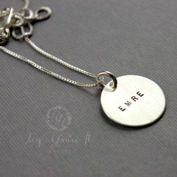 Name Necklace, Sterling Silver Personalized Name Jewelry, Classic Name Necklace