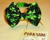 St.Patty's Day Bow Tie Collar for Small Dogs and Cats