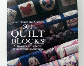 501 Quilt Blocks from Better Homes and Gardens vintage quilting book