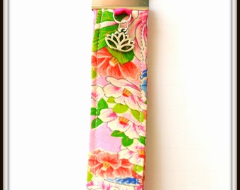 Brightly colored Recycled  Kimono Key fob
